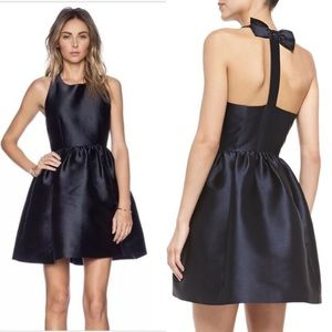 NWT Kate Spade Bow Back Fit and Flare Navy Dress